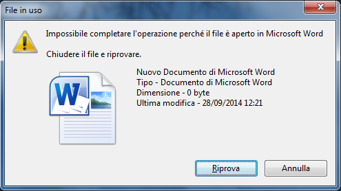 file in uso