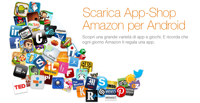 Amazon regala app e giochi per un totale di 25 euro