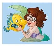 la sirenetta + flounder