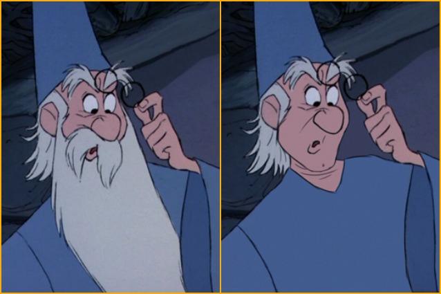 I personaggi disney senza barba