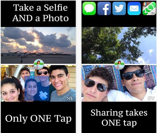 """""""Selfie Vista"""" per iOS: scattare foto con entrambe le fotocamere contemporaneamente"""
