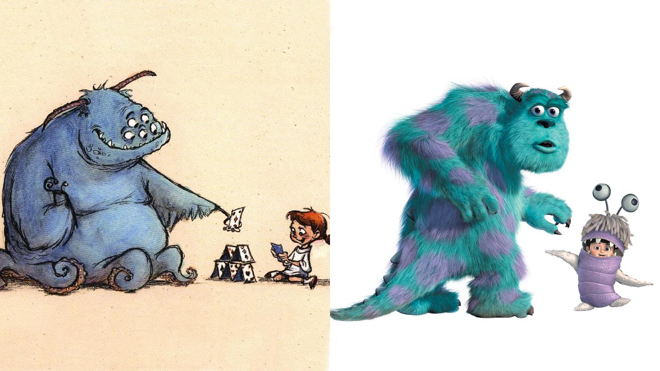 Le bozze dei disegni dei personaggi Disney [PARTE1]