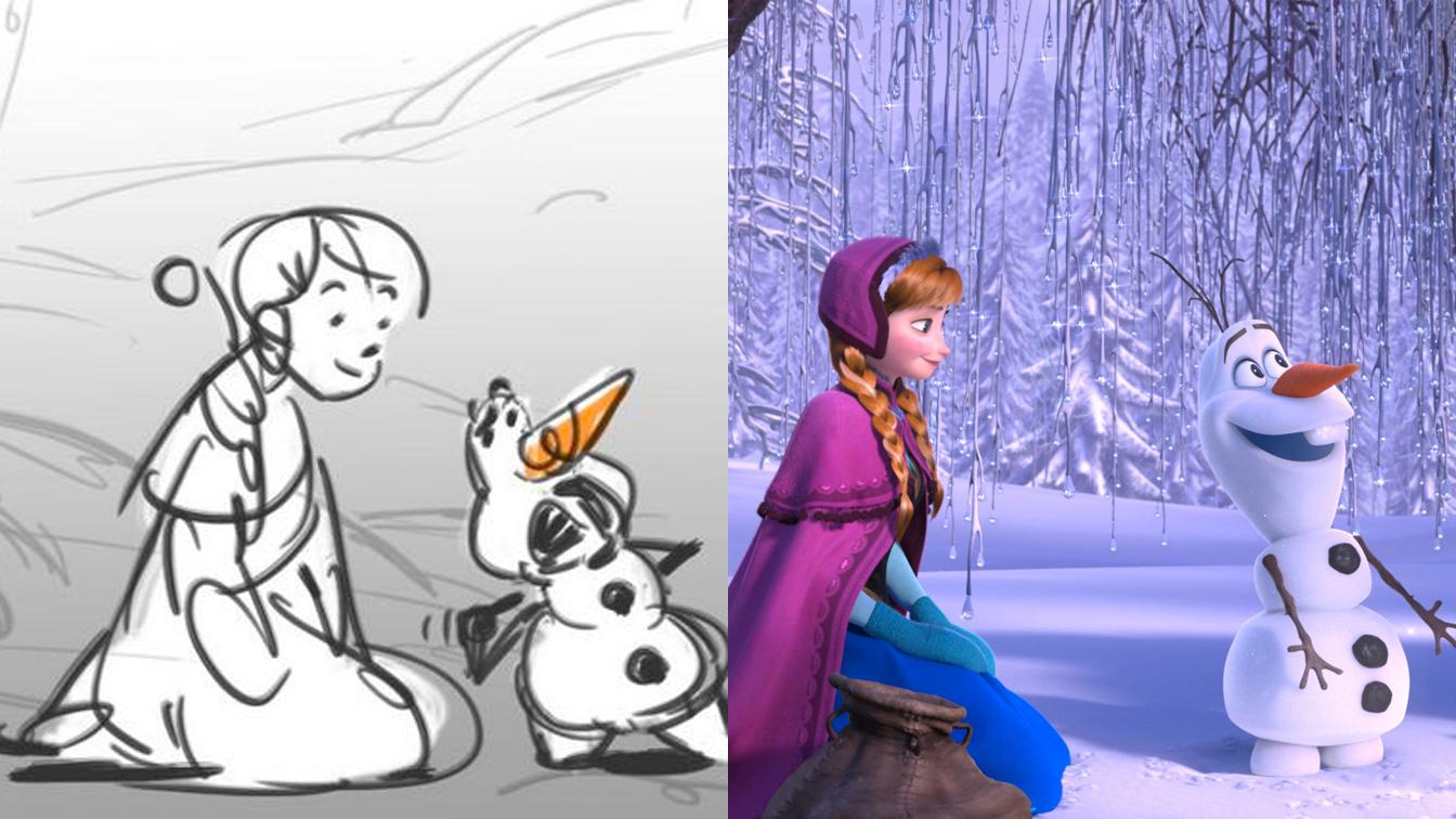 Le bozze dei disegni dei personaggi Disney [PARTE 2]