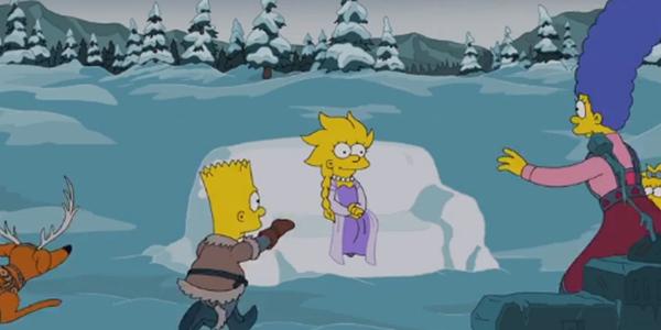 I Simpson incontrano Frozen!