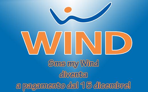 Dal 15 dicembre SMS MY Wind a pagamento: come disabilitare il servizio