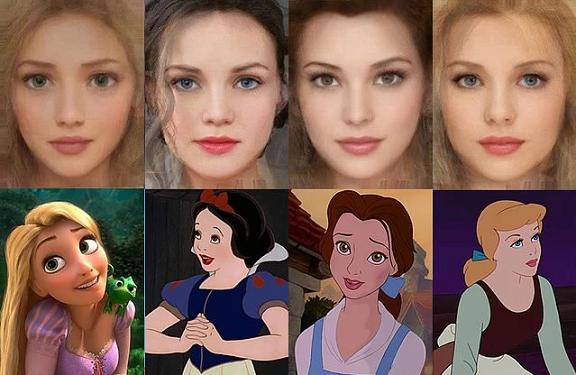 Se i Personaggi Disney avessero un viso realistico
