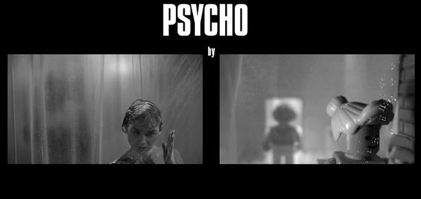 La scena della doccia di Psycho ricreata con i Lego