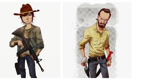 Se The Walking Dead fosse un cartone