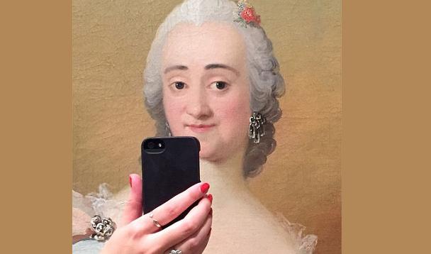 Se i quadri famosi si scattassero dei Selfie