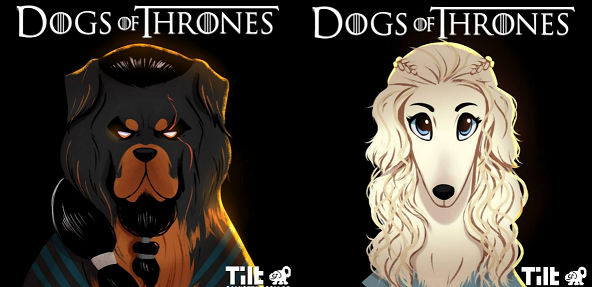 """Se i personaggi di """"Game of Thrones"""" fossero dei cani"""