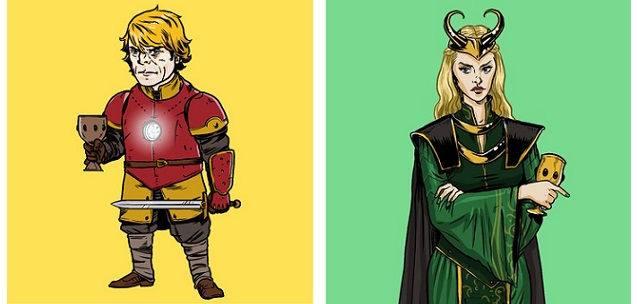 "Se i personaggi di ""Game of Thrones"" vestissero come gli Avegers"