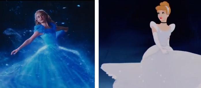 """""""Cenerentola"""": ecco il confronto tra il cartone e il film"""