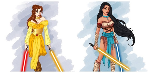 Se le Principesse Disney fossero in Star Wars
