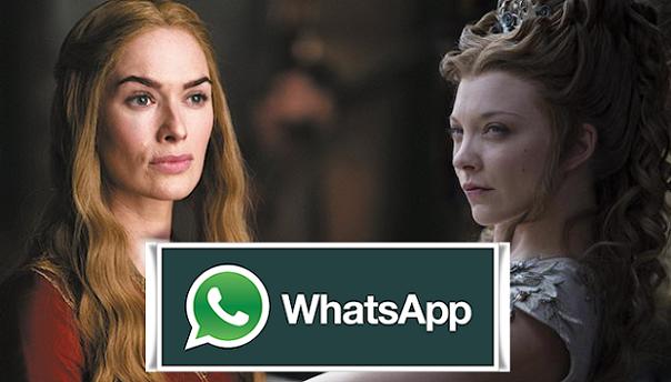 Se i personaggi di Game of Thrones usassero Whatsapp