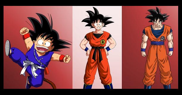 Come sono cambiati nel tempo i personaggi di Dragon Ball