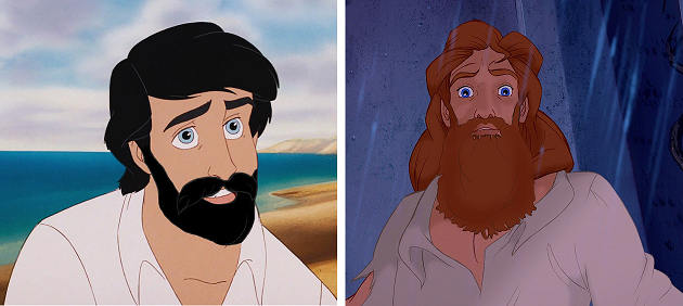 Sei i Principi Disney avessero la barba