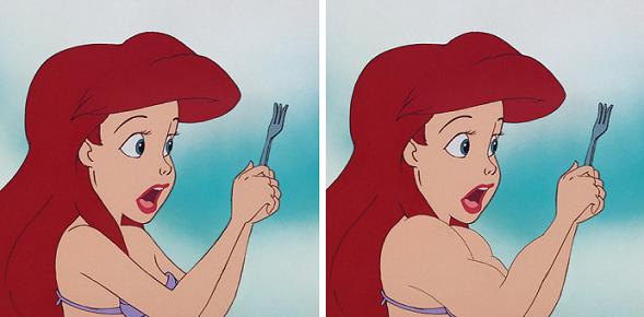 Se le Principesse e Principi Disney avessero il fisico invertito