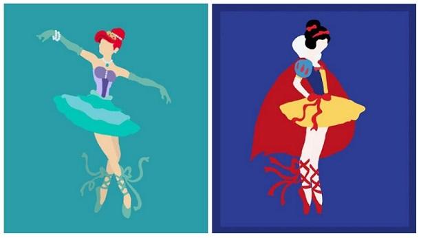 Se le Principesse Disney fossero delle ballerine
