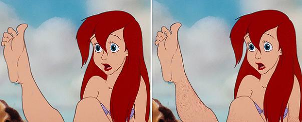 Se le Principesse Disney non fossero depilate