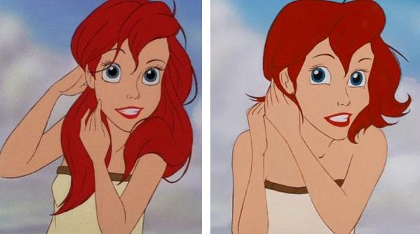 Se le Principesse Disney avessero i capelli corti