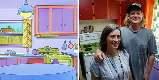 Una coppia ha ricreato la cucina dei Simpsons