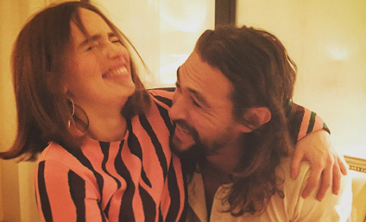Game of Thrones: reunion tra Emilia Clarke e Jason Momoa