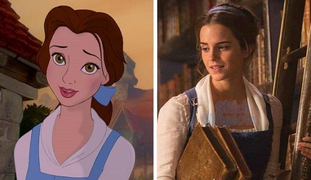 La differenza dei personaggi tra Cartone Disney e il Live Action