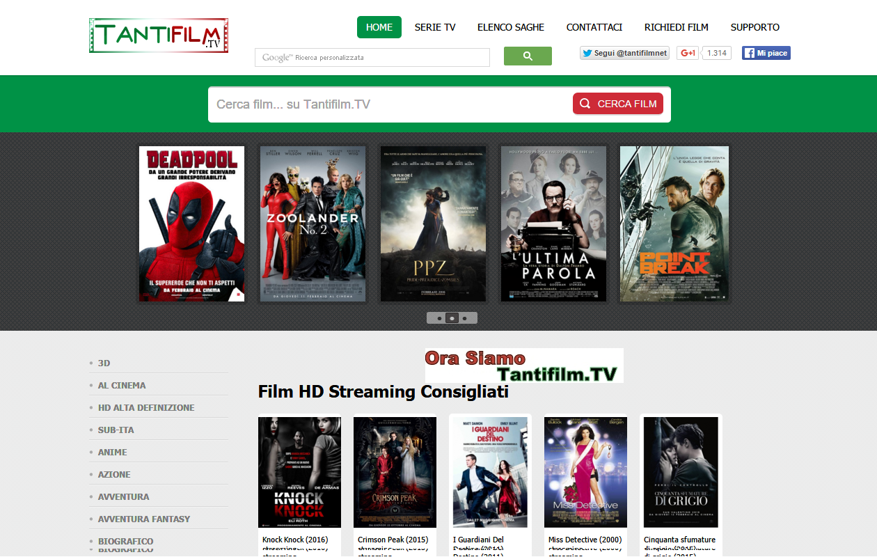 serie tv vm18 sito gratuito per single