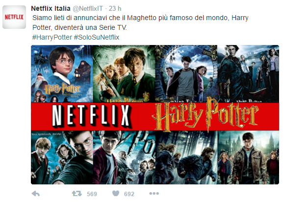 twitter netflix harry potter