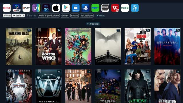 JustWatch: il motore di ricerca dei Film e Serie TV in streaming