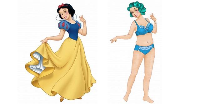 Se le Principesse Disney avessero un fisico realistico