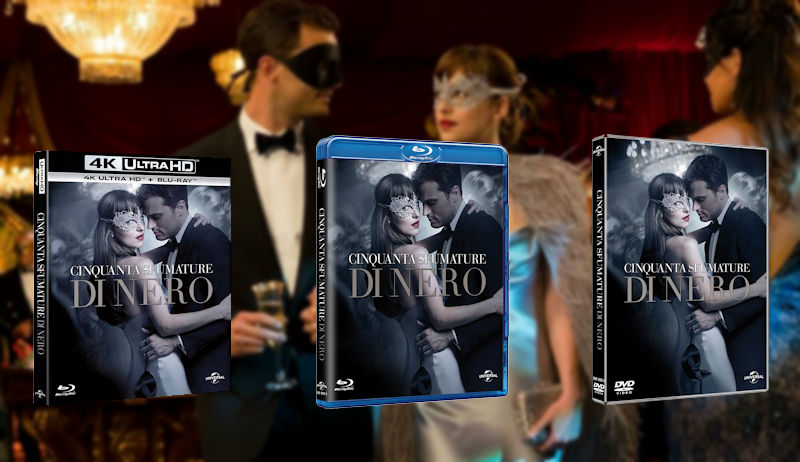 50 Sfumature di Nero: in uscita il DVD e BLU Ray con contenuti inediti