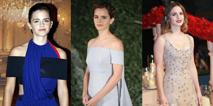 I Vestiti indossati da Emma Watson alle anteprime de La Bella e La Bestia