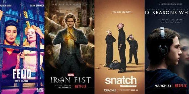 Le Serie tv che inizieranno e che ritorneranno a Marzo