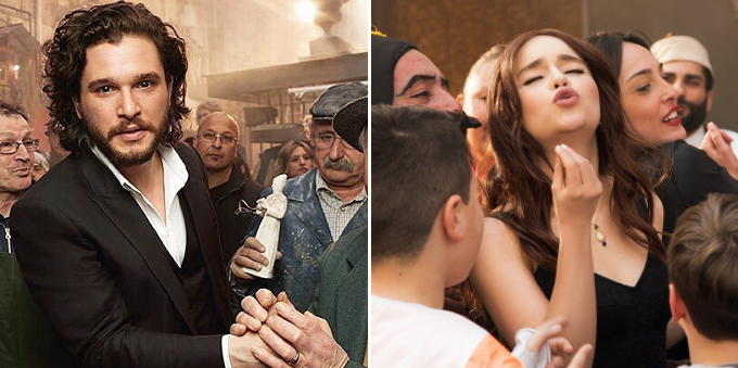 Kit Harington ed Emilia Clarke posano per lo spot Dolce & Gabbana
