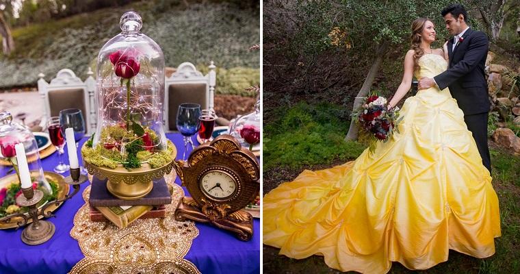 Matrimonio Tema La Bella E La Bestia : La bella e la bestia una coppia ha celebrato il matrimonio